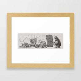 ZomBanimals Coffee: b&w Framed Art Print