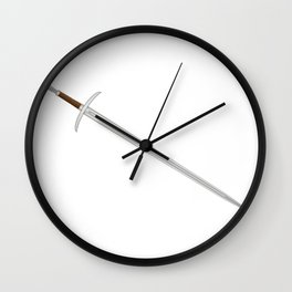 Knights Sword Wall Clock