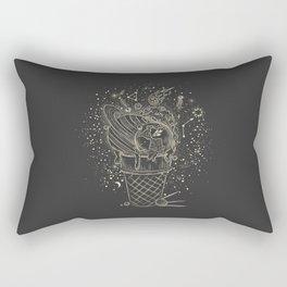 Mystic 94 Minimalist Line Drawing Ice Cream Galaxy Fun Astronomical Solar System Zodiac Signs Planets Orbits Boho Bohemian Style Rectangular Pillow