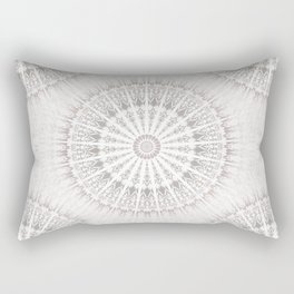 Taupe Mandala Rectangular Pillow