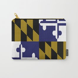Maryland State Flag Baltimore Football Season Colors Purple Gold Carry-All Pouch