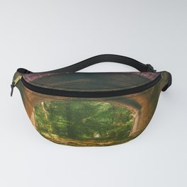 Railroad Track Through The Tunnel Fanny Pack