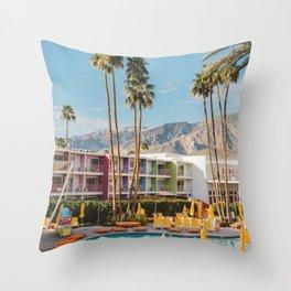 Palm Springs Saguaro Throw Pillow