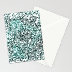 Squigg Block (Blue-Green) Stationery Cards