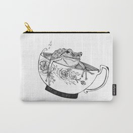 Pacific Northwest Tree Frog Riding in a China Teacup Carry-All Pouch
