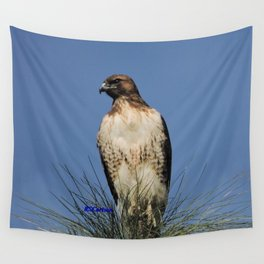 Red-Tailed Hawk on Watch at Foothill and B Street Wall Tapestry