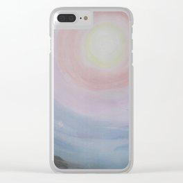 Hopeful Sunset Clear iPhone Case