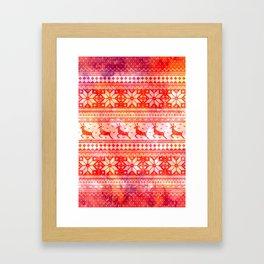 Reindeer Sweater Color Option Framed Art Print