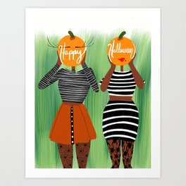 Pumkin Heads Art Print