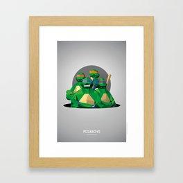 Pizzaboys Framed Art Print