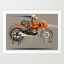 Braking point Art Print