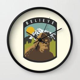 Bigfoot Patch Wall Clock