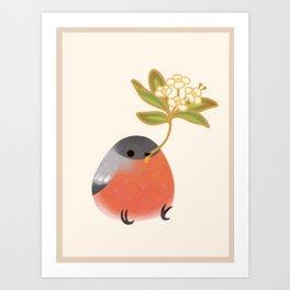 Eurasian bullfinch 2 Art Print