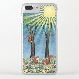 sunshine squirrels Clear iPhone Case