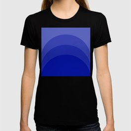 Four Shades of Blue Curved T-shirt