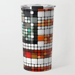 Retro Abstract American Flag Travel Mug