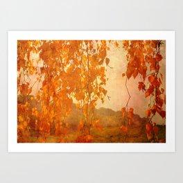 Autumn in Fairy Land Art Print
