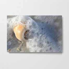 Wave To The Shell from Clearwater Florida Metal Print