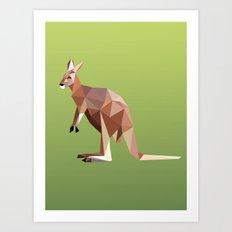 Geometric Kangaroo Art Print
