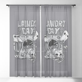 Laundry Day Sheer Curtain