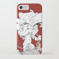 vegetarian iPhone & iPod Cases featuring Hitler was a Vegetarian  by Amanda Thompson
