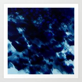 Shibori Seas Art Print