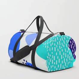 Blue abstract pattern Duffle Bag