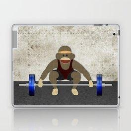 Sock Monkey Bodybuilder Laptop & iPad Skin