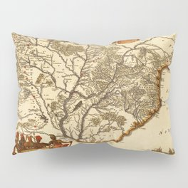 Map Of Paraguay 1671 Pillow Sham
