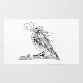 Sparrow making a nest Rug