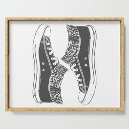 """Fashion Modern Design Print """"Sneakers""""! Hip hop gangster style Serving Tray"""