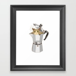 CATpresso Framed Art Print
