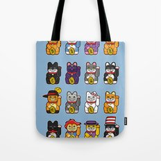 Fortune Cats Tote Bag