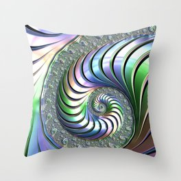 Colorful Spiral Throw Pillow
