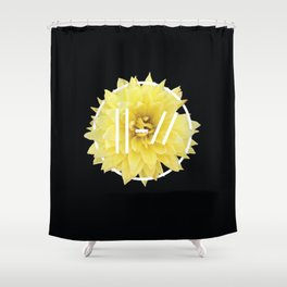 Trench Yellow Flower Shower Curtain