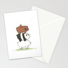 We Bare Bears by Maria Piedra Stationery Cards