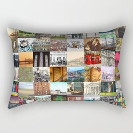 Everything from Dublin - collage of typical images of the city and history Rectangular Pillow
