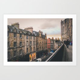 Edinburgh Sunset Art Print