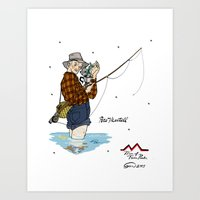 martell Art Prints featuring Pete Martell Pin-up by Emma Munger
