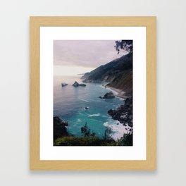 Big Sur Sunset Framed Art Print