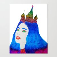 russia Canvas Prints featuring Russia by Luna Portnoi