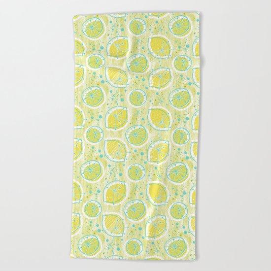 Atomic Lemonade_Green and Cerulean Beach Towel