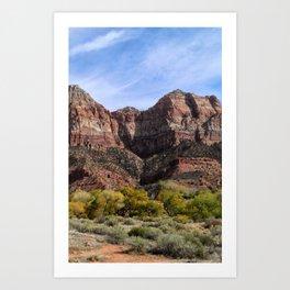 Zion Canyon - Utah Art Print
