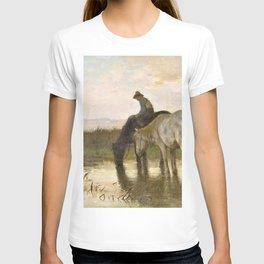 12,000pixel-500dpi - Anton Rudolf Mauve - Drinking horses - Digital Remastered Edition T-shirt