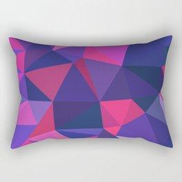 Blue x Pink Triangles Rectangular Pillow