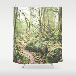 Puzzlewood Moss Forest Shower Curtain
