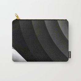 Modern CIRCULAR Black and White Design Carry-All Pouch