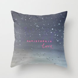 Karisfornia Love Throw Pillow