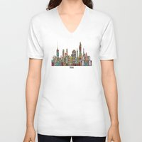 oklahoma V-neck T-shirts featuring Tulsa oklahoma by bri.buckley