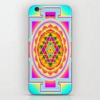 chakra iPhone & iPod Skins featuring Shri Chakra by Artisticcreationsusa